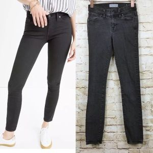 "Madewell 8"" Skinny Skinny Jeans Frost Faded Black"